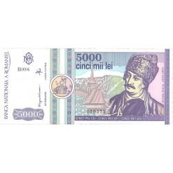 Rumania 5000 Lei. 1992. Marzo. SC. PIK. 103