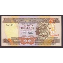 Salomon.-Islas 20 Dolar. 1986. SC. PIK. 16 a