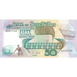 Seychelles.-Islas 50 Rupia. 1989. (s/f). SC. ESCASO/A. PIK. 34