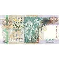 Seychelles.-Islas 50 Rupia. 2001. (s/f). SC. MUY ESCASO/A. PIK. Nuevo