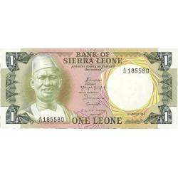 Sierra Leona 1 Leone. 1984. 04-08. SC. PIK. 5 e