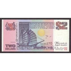 Singapur 2 Dolar. 1992. SC. PIK. 28
