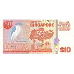 Singapur 10 Dolar. 1976. (s/f). SC. MUY ESCASO/A. PIK. 11 a