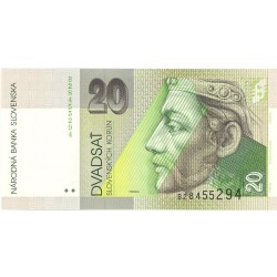 Slovaquia 20 Korun. 1993. 01-09. SC. PIK. 20