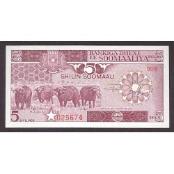 Somalia 5 Shilling. 1983. SC. PIK. 31 a
