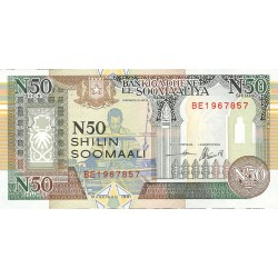 Somalia 50 Shilling. 1991. SC. PIK. R2