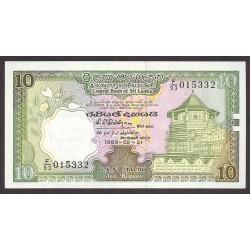 Sri Lanka 10 Rupia. 1989. SC. PIK. 96