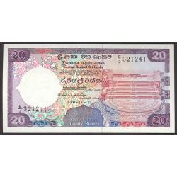 Sri Lanka 20 Rupia. 1988. SC. PIK. 97 a