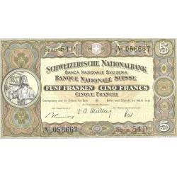 Suiza 5 Francos. 1952. 28-03. SC. MUY ESCASO/A. PIK. 11 p