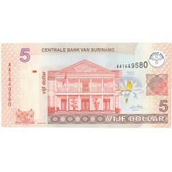 Surinam 5 Dolar. 2004. 01-01. SC. PIK. 157