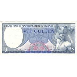 Surinam 5 Gulden. 1963. 01-09. SC. PIK. 120