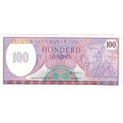 Surinam 100 Gulden. 1985. 01-11. SC. PIK. 128 b