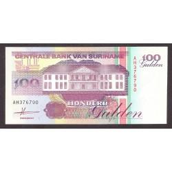 Surinam 100 Gulden. 1991. SC. PIK. 139