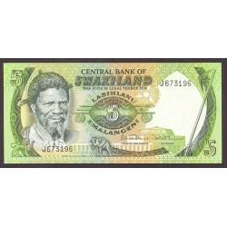 Swaziland 5 Emalangeni. 1984. SC. PIK. 9 b