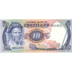 Swaziland 10 Emalangeni. 1983. (s/f). SC. PIK. 10 c