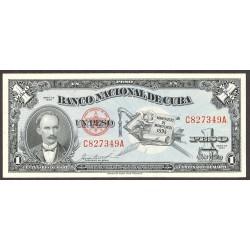 Cuba 1 Pesos. 1953. SC. PIK. 86