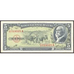 Cuba 5 Pesos. 1960. SC. PIK. 91 c
