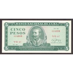 Cuba 5 Pesos. 1987. SC. PIK. 103 d