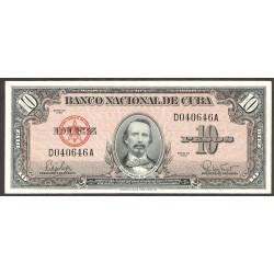 Cuba 10 Pesos. 1960. SC. PIK. 79 b