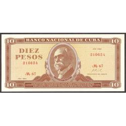 Cuba 10 Pesos. 1969. SC. PIK. 104 a