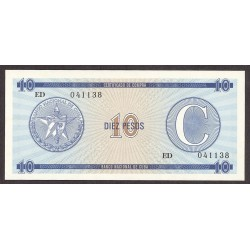 Cuba 10 Pesos. 1985. SC. (Convertibles)-(Serie C). PIK. Fx22