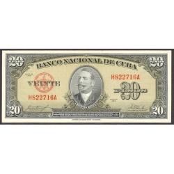 Cuba 20 Pesos. 1958. SC. PIK. 80 b