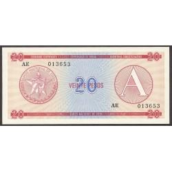 Cuba 20 Pesos. 1985. SC. (Convertibles). PIK. Fx5