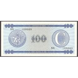 Cuba 100 Pesos. 1985. SC. (Convertibles)-(Serie EA). PIK. Fx25