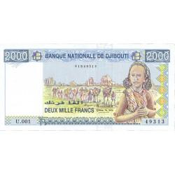 Djibouti 2000 Francos. 1997. (s/f). SC. PIK. 40