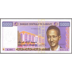 Djibouti 5000 Francos. 2002. (s/f). SC. PIK. 43