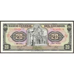 Ecuador 20 Sucre. 1978. SC. PIK. 115 b