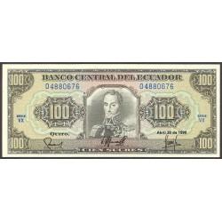Ecuador 100 Sucre. 1990. SC. PIK. 123