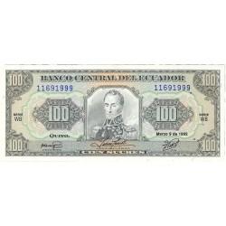 Ecuador 100 Sucre. 1992. 04-12. SC. PIK. 123 A.b