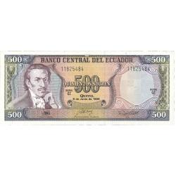 Ecuador 500 Sucre. 1988. 08-06. SC. PIK. 124 A