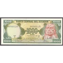 Ecuador 1000 Sucre. 1986. SC. PIK. 125 a