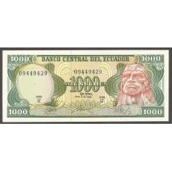 Ecuador 1000 Sucre. 1986. SC. PIK. 125 b