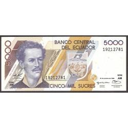Ecuador 5000 Sucre. 1996. SC. PIK. 128 b