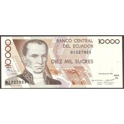 Ecuador 10000 Sucre. 1995. SC. PIK. 127 b