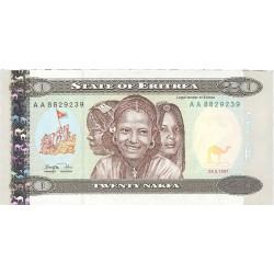 Eritrea 20 Nakfa. 1997. 24-05. SC. PIK. 4