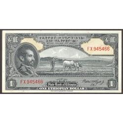Ethiopia 1 Dolar. 1945. SC/SC-. (Nuevo con insig.marquita en un margen). PIK. 12