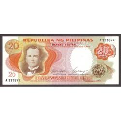 Filipinas 20 Piso. 1969. SC. PIK. 145 a