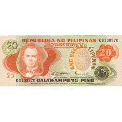 Filipinas 20 Piso. 1970. SC. PIK. 162 a