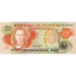 Filipinas 20 Piso. 1978. (s/f). SC. PIK. 162 c