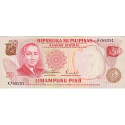 Filipinas 50 Piso. 1970. (s/f). SC. PIK. 151