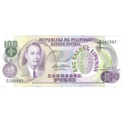 Filipinas 100 Piso. 1970. (s/f). SC. PIK. 157 b