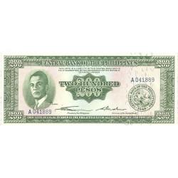 Filipinas 200 Pesos. 1949. (s/f). SC. PIK. 140