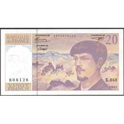 Francia 20 Francos. 1993. SC. PIK. 151 g