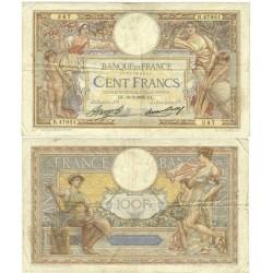 Francia 100 Francos. 1935. 28-03-GL. MBC/MBC+. (Serie R). Insig.roturita en margen. PIK. 86 a