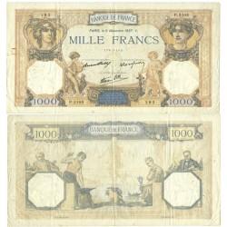 Francia 1000 Francos. 1937. 09-Diciembre. MBC+. (Serie P3105). (Pik, no cita las firmas de este billete). PIK. 79