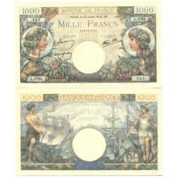 Francia 1000 Francos. 1944. -13-07. SC. (Serie R.N). PIK. 36 b